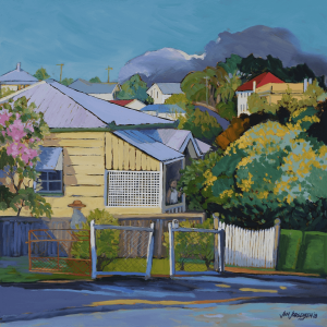 Winter Wattle on Latrobe Paddington 30x30cm